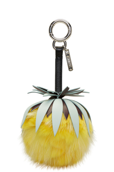 Fendi - Yellow 'Fendi Fruits' Pineapple Keychain
