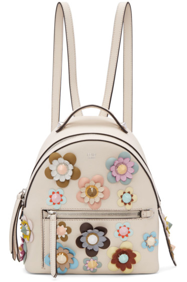 Fendi - Off-White Mini Flowerland Backpack