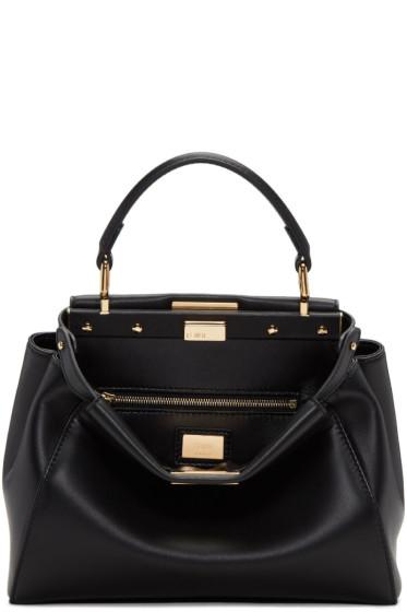 Fendi - Black Mini Peekaboo Bag