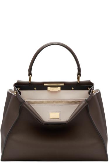 Fendi - Brown Regular Peekaboo Bag