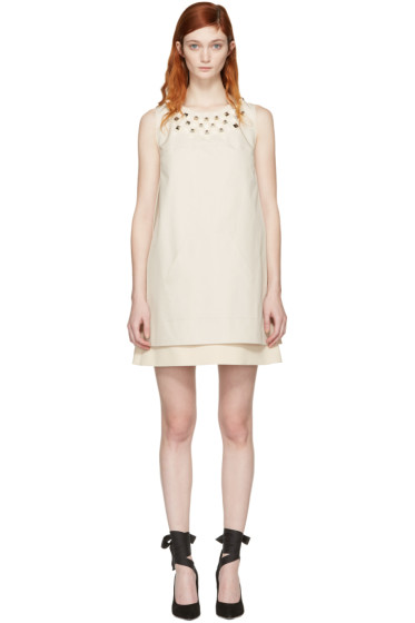 Fendi - Ivory Studded Layered Dress