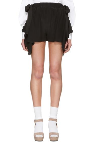 Fendi - Black Scalloped Shorts