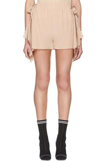 Fendi - Pink Scalloped Shorts