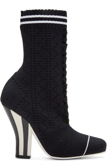 Fendi - Black Stretch Sock Boots