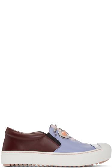 Fendi - Multicolor 'Fendi Faces' Slip-On Sneakers