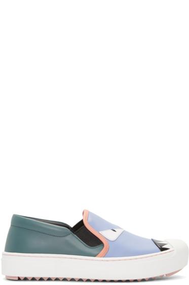 Fendi - Multicolor Bag Bugs Slip-On Sneakers