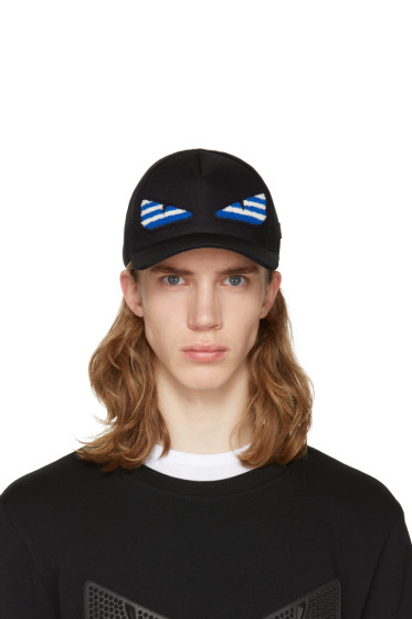Fendi - SSENSE Exclusive Black 'Bag Bug' Cap