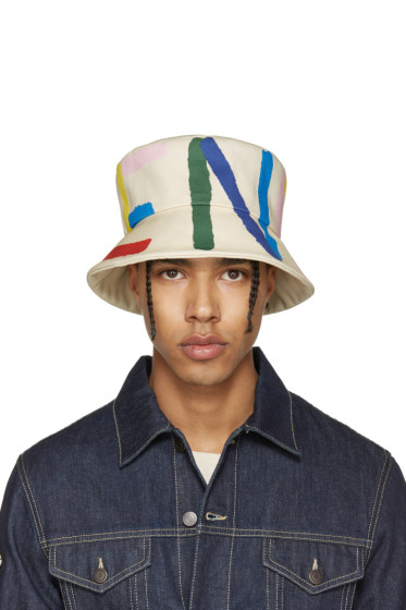 Fendi - Off-White Logo Bucket Hat