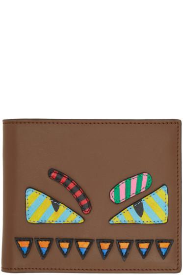 Fendi - Brown 'Bag Bugs' Wallet