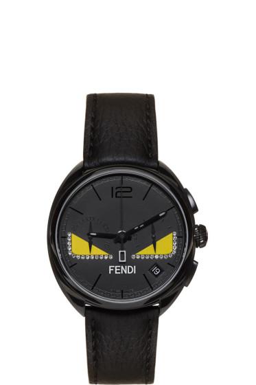 Fendi - ブラック ダイアモンド モメント バグ ウォッチ