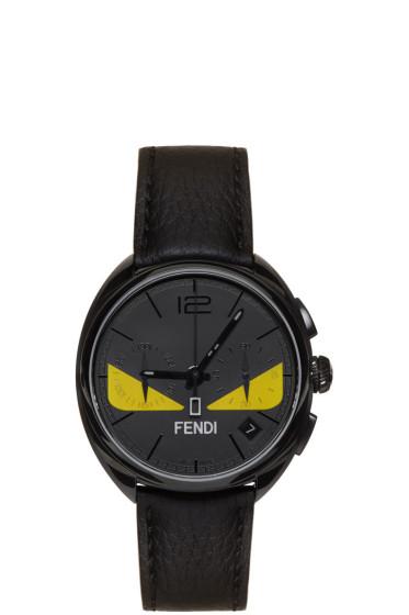 Fendi - ブラック モメント バグ ウォッチ