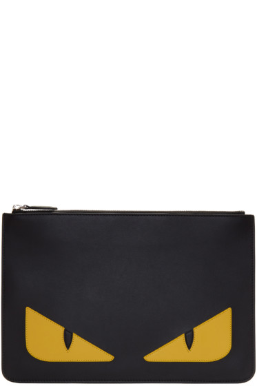 Fendi - Black 'Bag Bugs' Pouch