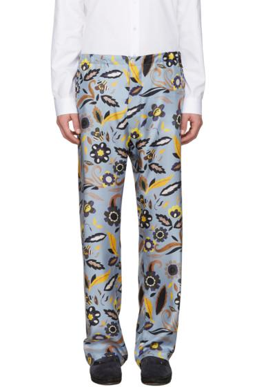 Fendi - Blue Floral Pyjama Trousers