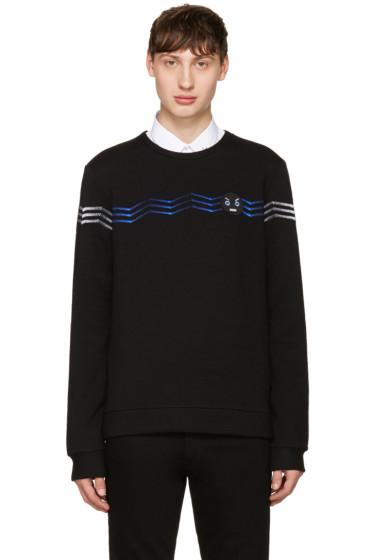 Fendi - Black Zig Zag Faces Sweatshirt