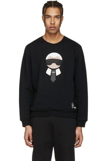 Fendi - Black Karlito Sweatshirt