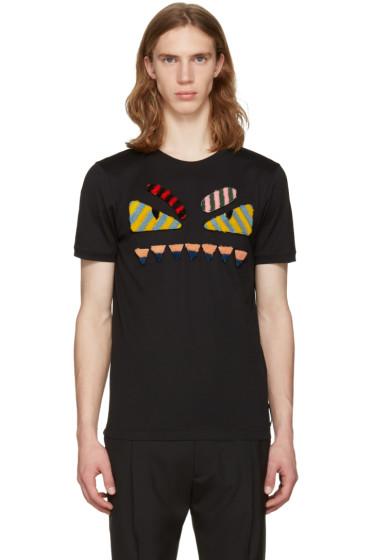 Fendi - Black 'Bag Bug' T-Shirt