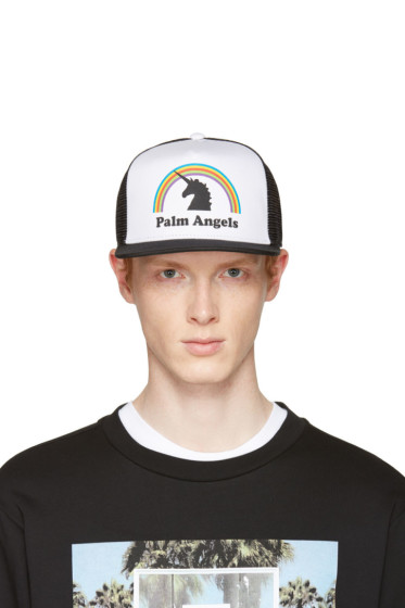 Palm Angels - Black & White Unicorn Cap