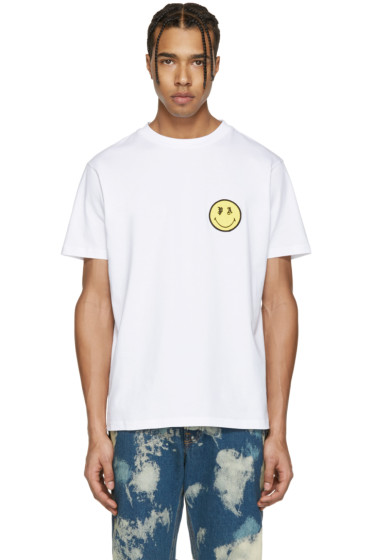 Palm Angels - White Smiling T-Shirt