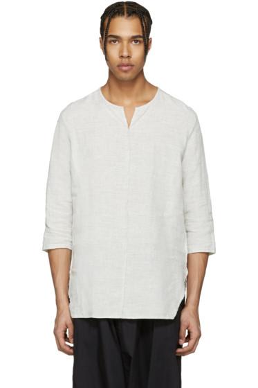 Attachment - Grey Oversized Linen Shirt