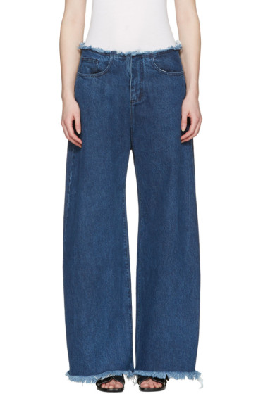 Marques Almeida - Blue Oversized Jeans