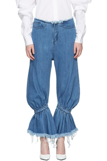 Marques Almeida - Blue Baggy Jeans