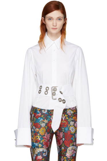 Marques Almeida - White Oversized Sleeve Shirt