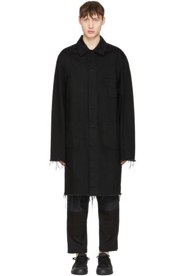 Marques Almeida - Black Denim Mackintosh Jacket