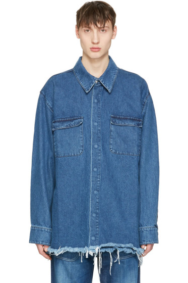 Marques Almeida - Blue Denim Oversized Shirt