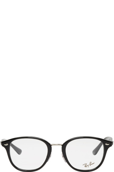 Ray-Ban - Black Acetate Round Glasses