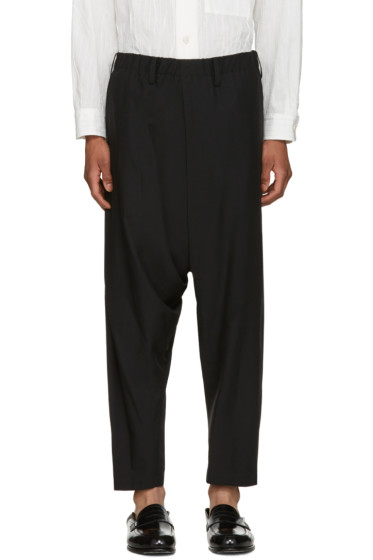 Issey Miyake Men - Black Wool Dropped Trousers