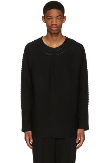 Issey Miyake Men - Black Textured Pullover