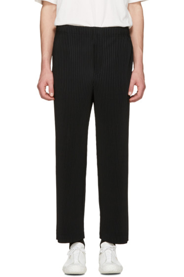 Homme Plissé Issey Miyake - Black Classic Pleats Straight Trousers