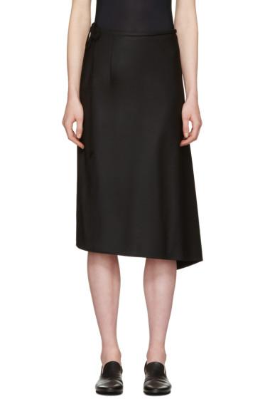 Y's - Black Bias Tight Skirt