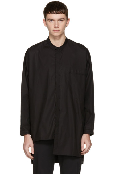 Isabel Benenato - ブラック ポプリン オーバーサイズ シャツ