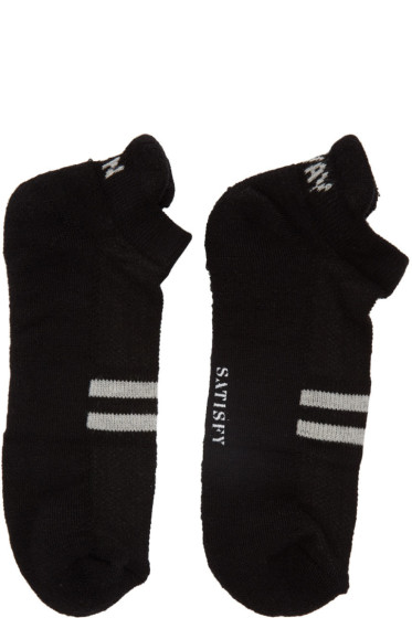 Satisfy - Black 'Run Away' Patchwork Low Socks