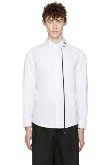 Craig Green - White Lace-Up Collar Shirt