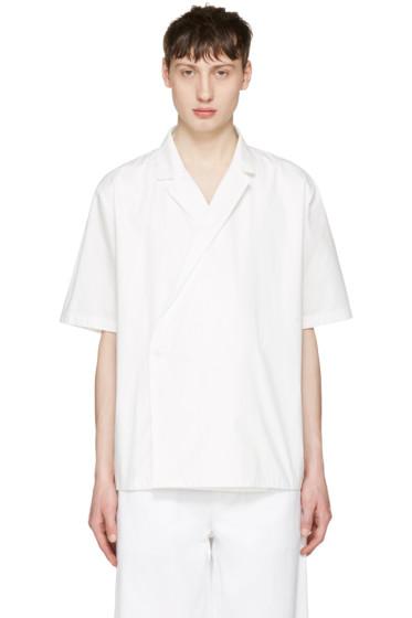 Sunnei - White Open Collar Shirt