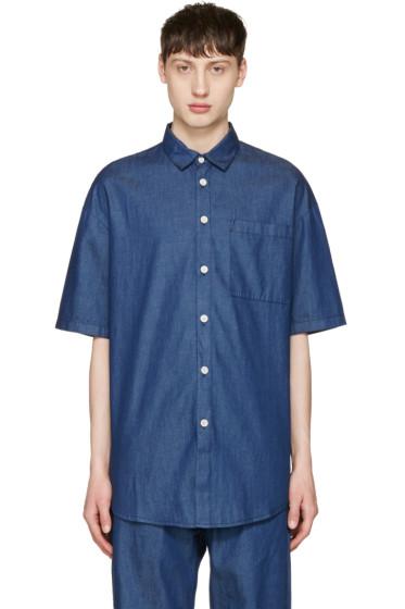 Sunnei - Indigo Chambray Shirt