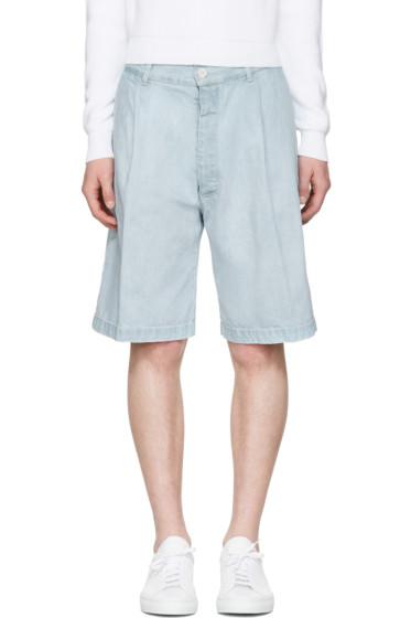 Sunnei - Blue Denim Bermuda Shorts