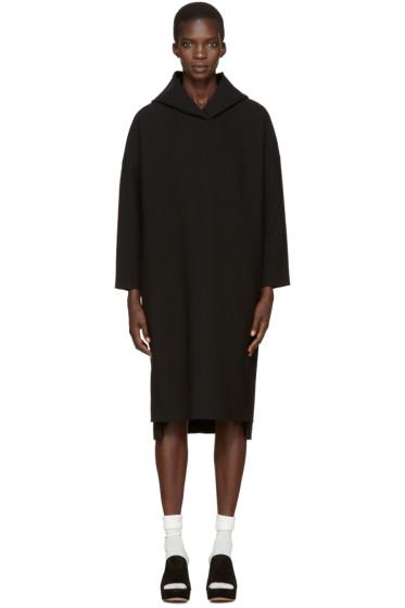 Enfold - Black Hooded Dress