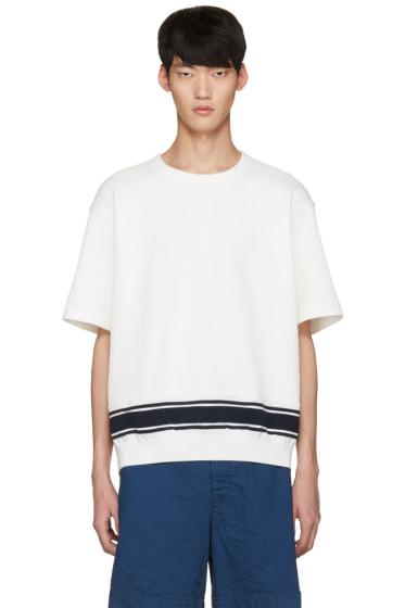 Tomorrowland - White Stripe Knit T-Shirt