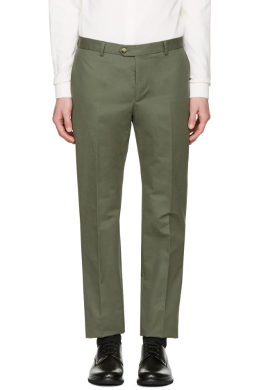 Éditions M.R  - Green Tailored Chino Trousers