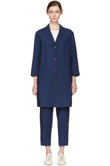Blue Blue Japan - Indigo Linen Engineer Coat
