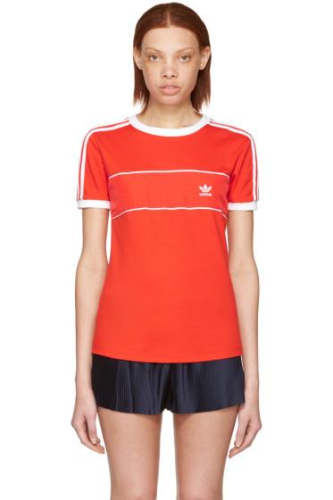 adidas Originals - Red Satin Insert Logo T-Shirt