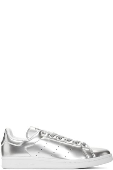 adidas Originals - Silver Stan Smith Sneakers