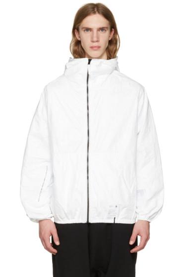 UEG - ホワイト Tyvek® フード ジャケット