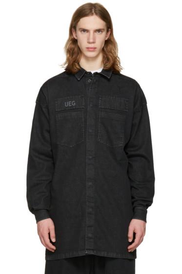 UEG - ブラック デニム シャツ