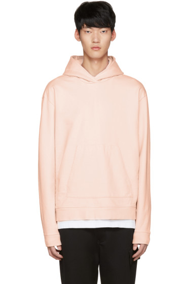 John Elliott - Pink Oversized Cropped Hoodie