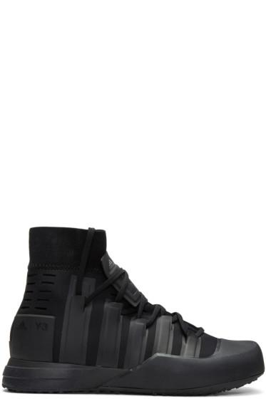Y-3 SPORT - Black Control High-Top Sneakers