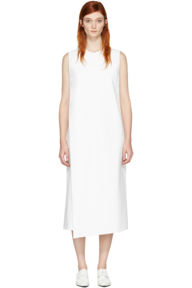 Hyke - White Foldover Panel Dress